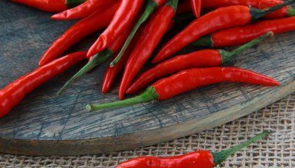 Czerwone papryczki chilli (kapsaicyna) – właściwości i prozdrowotne działanie