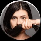 <p>Wspomaga proces<br /> pigmentacji włosów</p>